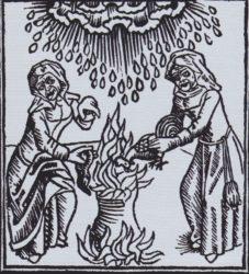 zwei-hexen-beschwoeren-mit-einem-tieropfer-ein-hagelunwetter-herauf-holzschnitt-um-1489
